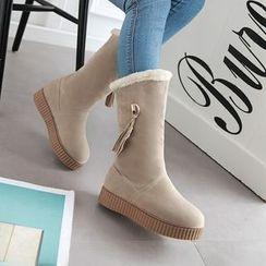 Pastel Pairs - Tasseled Short Snow Boots