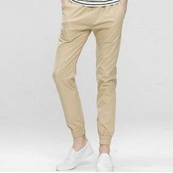 HEIZE - Cropped Cuffed Chino Pants