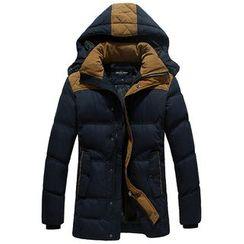 2RZ - Color-Block Padded Coat