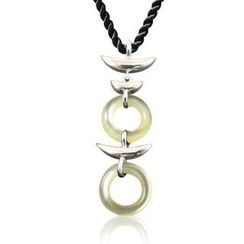 ZN Concept - Mother of Pearl Pendant with Silk Cord
