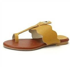 MODELSIS - Toe-Loop Genuine Leather Sandals