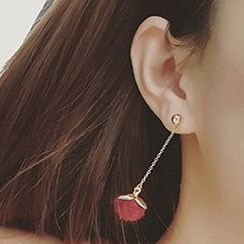 True Glam - Ball Non-Matching Dangle Earrings