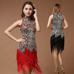 MATITA - Fringed Latin Dance Dress