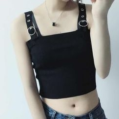 MePanda - Buckled Cropped Camisole Top