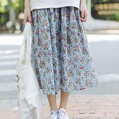 Wimi girls - Floral Print Midi Skirt