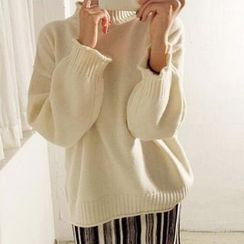 monroll - Mock Neck Long Sweater