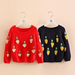 Seashells Kids - Kids Embroidered Sweater