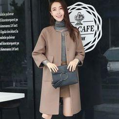 NINETTE - 3/4-Sleeve Snap-Button Coat