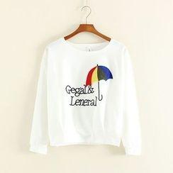 Mushi - Embroidered Long Sleeve T-Shirt