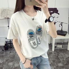 Only Eve - Printed Short-Sleeve T-shirt