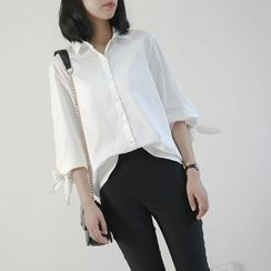 Ranche - Elbow-Sleeve Plain Shirt