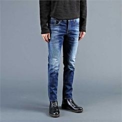 THE COVER - Washed Straight-Cut Jeans