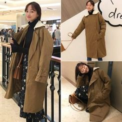 Anlay - Double-Breasted Long Loose-Fit Jacket