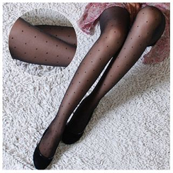 Kally Kay - 圆点薄纱袜裤