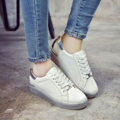 Sofree - Color Panel Lace Up Sneakers