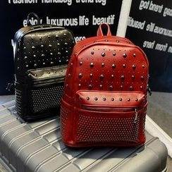Donini Bags - Studded Faux Leather Backpack