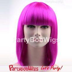 Party Wigs - PartyBobWigs - 派对BOB款中长假发 - 萤光紫色
