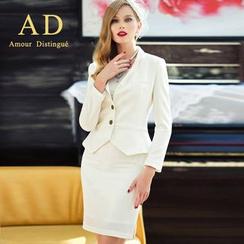 艾尚臣 - 套裝: 荷葉邊西裝 + 鉛筆裙