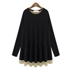 Eloqueen - Long-Sleeve Ruffled Top