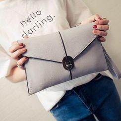 Velocia - Faux Leather Envelope Shoulder Bag