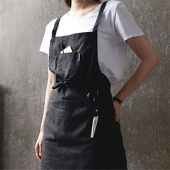 iswas - Linen Pocket-Detail Apron