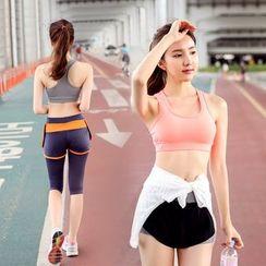 REALLION - 套装: 运动文胸 + 运动短裤