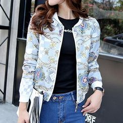 Romantica - Floral Baseball Jacket