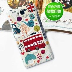 Kindtoy - London Print Huawei Honor 3C Case