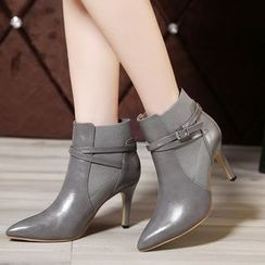 Monde - Heeled Pointy Short Boots