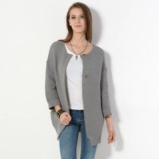 59 Seconds - Snap Button Long Cardigan