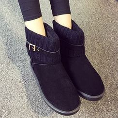 HOONA - Knit-Panel Snow Boots