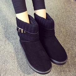 HOONA - 拼针织雪地靴