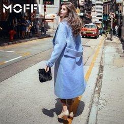 MOFFI - Plain Double Breasted Long Coat