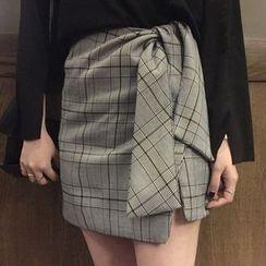 Dute - Check Mini Skirt