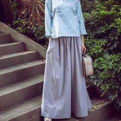 Diosa - Linen-blend Wide-leg Pants