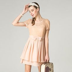 O.SA - Bow-Accent Lace Dress