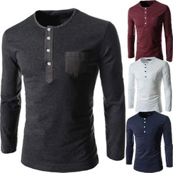 Hansel - Henley Long Sleeve T-Shirt