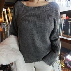 LIPHOP - Round-Neck Sweater