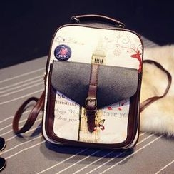 Miss Sweety - Faux-Leather Printed Backpack