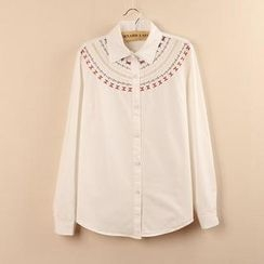 Tangi - Embroidered Long Sleeved Blouse