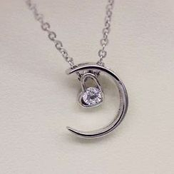 A'ROCH - Crescent 925 Sterling Silver Necklace