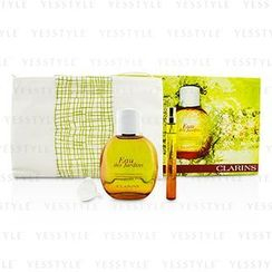 Clarins - Eau Des Jardins Coffret: Fragrance Spray 100ml/3.3oz + Refillable Spray 10ml/0.3oz + Refill Funnel + Bag