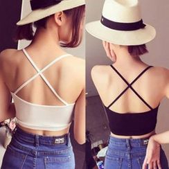 camikiss - Cross Back Bra Top
