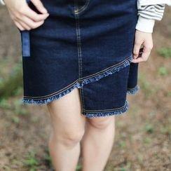 Garden Party - Denim Skirt