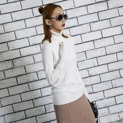 Sonne - 修身高領毛衣