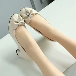 Pangmama - Bow-Accent Pumps