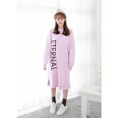 J-ANN - Lettering Pullover Dress
