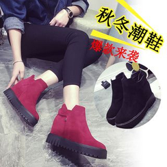 EMIL - Hidden Wedge Platform Ankle Boots