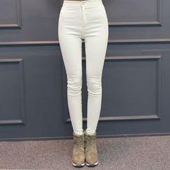 DANI LOVE - High-Waist Brushed-Fleece Lined Skinny Jeans