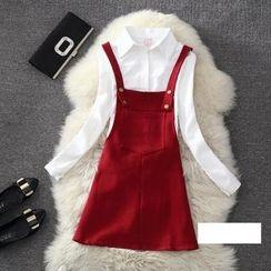 Clementine - 純色帶連衣裙